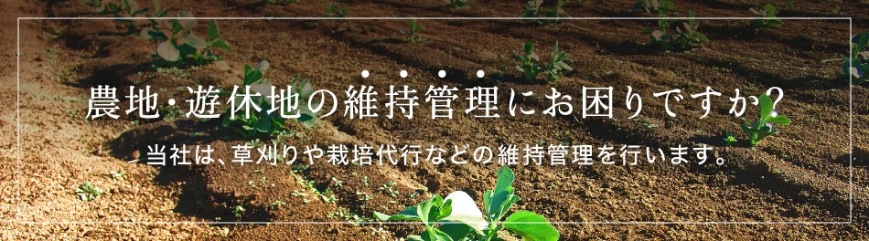 農地や遊休地の草刈・整備は「農地まもる君」にお任せ下さい。